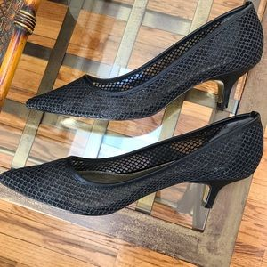 Adrianna Papell black kitten heels